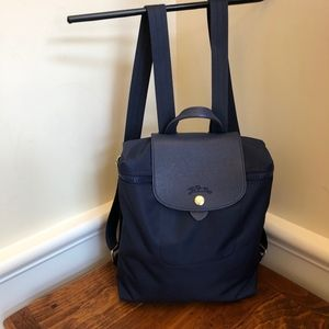 Longchamp Blue Nylon Backpack